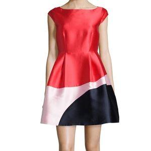 Kate spade Red Cap Sleeve Colorblock Dress